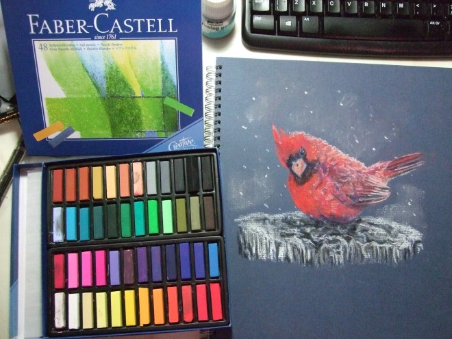 Trying out my new set of pastels! I have never tried this medium before. They are so soft to draw with. I can see a new addiction forming. Drawin with Faber Castell Studio soft pastels, 1 hour.